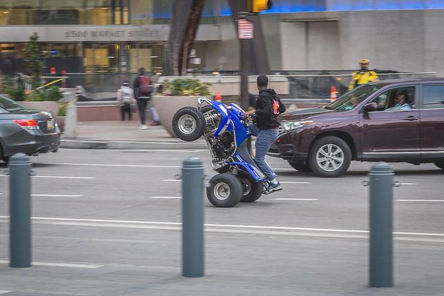 Wheelie on Market St
