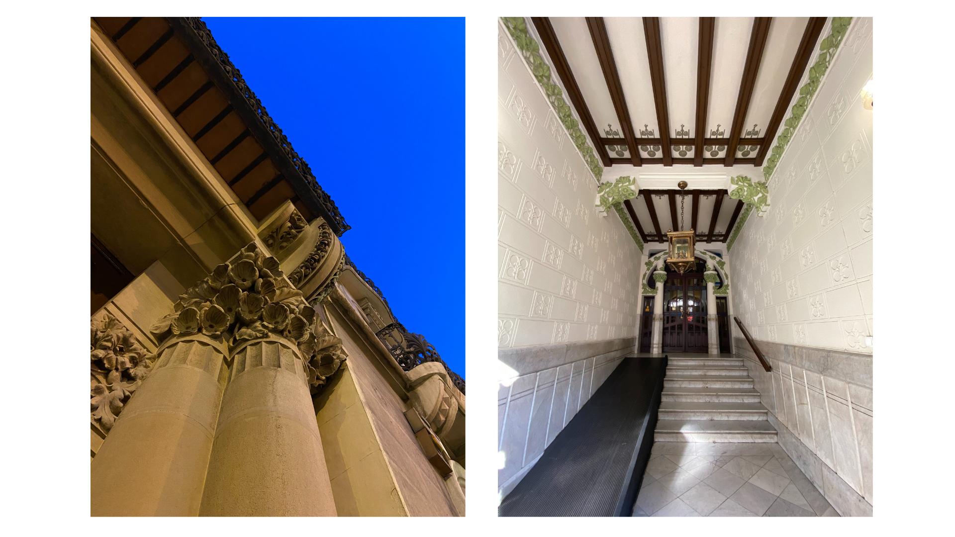 Detalles del exterior e interior del número 11 de Paseo de Sagasta