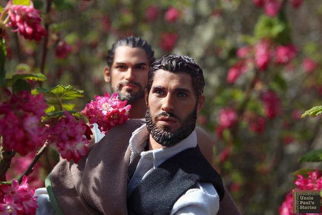 Sayed shows Baghestan around the garden