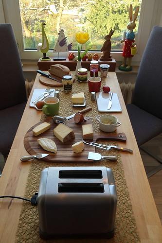 Frühstück an unserem ersten Urlaubstag