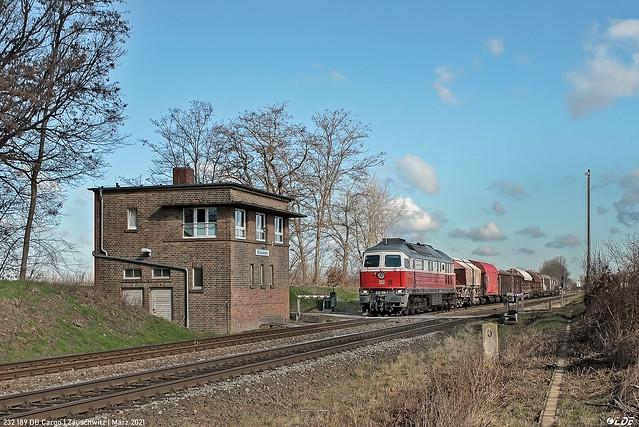 232 189 DB Cargo   Zauschwitz   März 2021