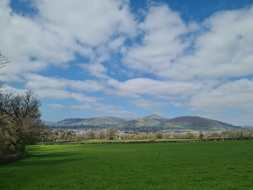 Abergavenny and the Sugarloaf from Ysgyrid Fach. (threejumps)