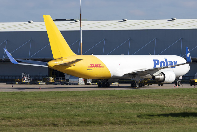 Polar Air Cargo (DHL) 767-300F N643GT at East Midlands Airport EMA/EGNX