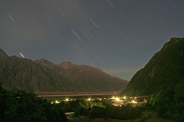 Startrails Over Mount Cook Village - March 28, 2007