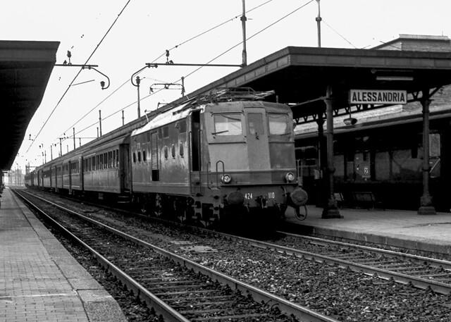 FS E 424.110 Alessandria 17/09/1978. Foto Roberto Trionfini