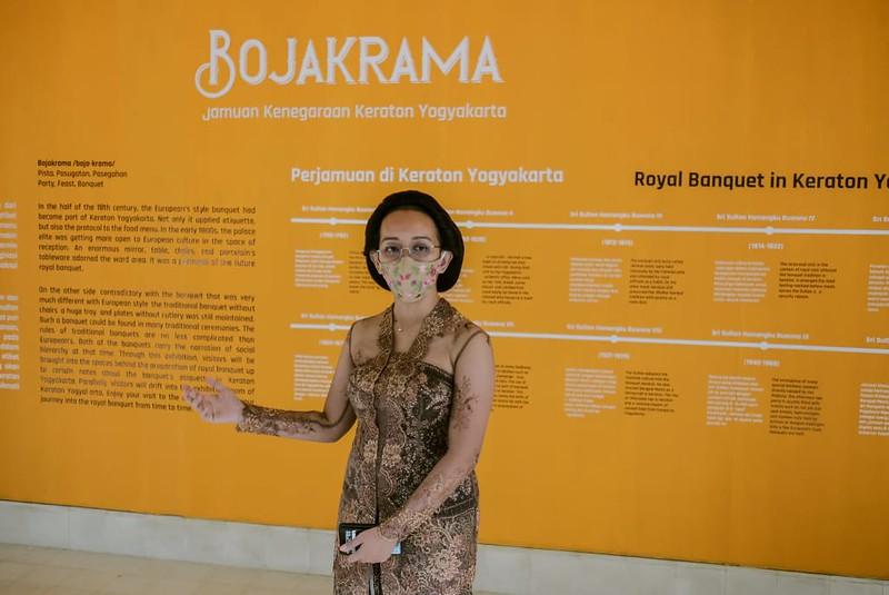 GKR Bendara dalam jumpa pers Pameran BOJAKRAMA: Jamuan Kenegaraan Keraton Yogyakarta