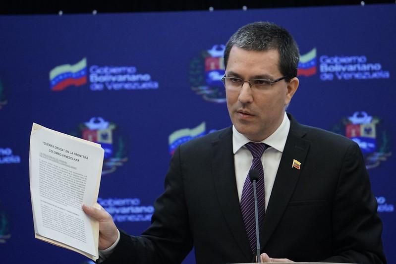En rueda de prensa Canciller Jorge Arreaza informa sobre acciones por la defensa de la soberanía nacional