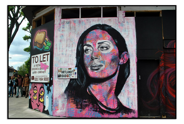 LONDON STREET ART PORTRAIT OF EMILY BLUNT by ANT CARVER