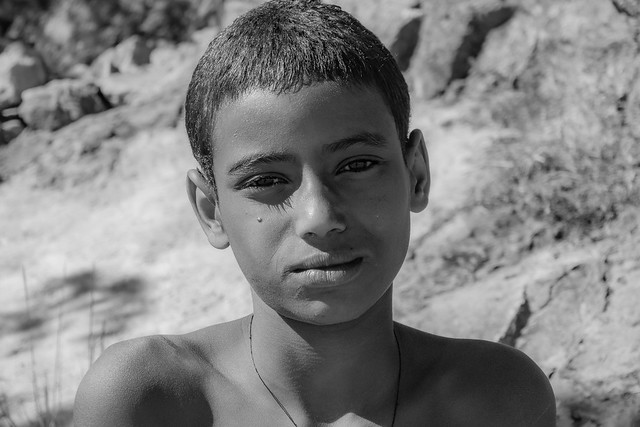 A boy along Lake Tana