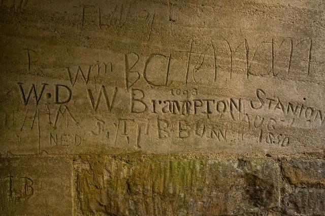 Historical graffiti - Lyveden New Bield, Northamptonshire, UK