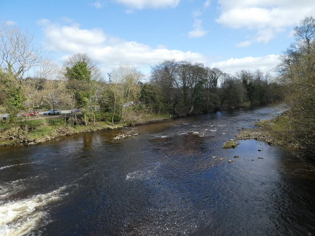 View of the River Wharfe from the old bridge, Ilkley