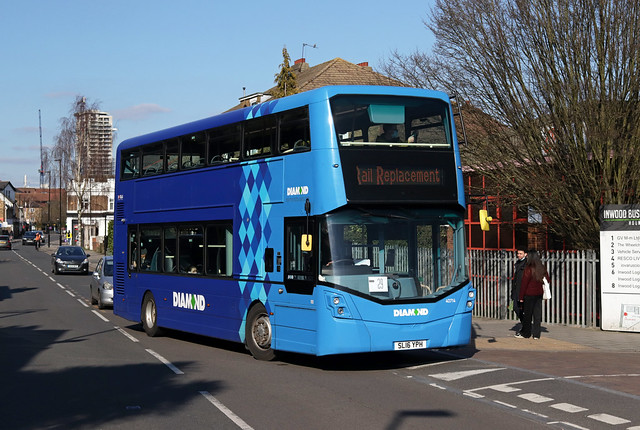 SWR Rail Replacement, Diamond Bus (South East), 40714, SL16YPH
