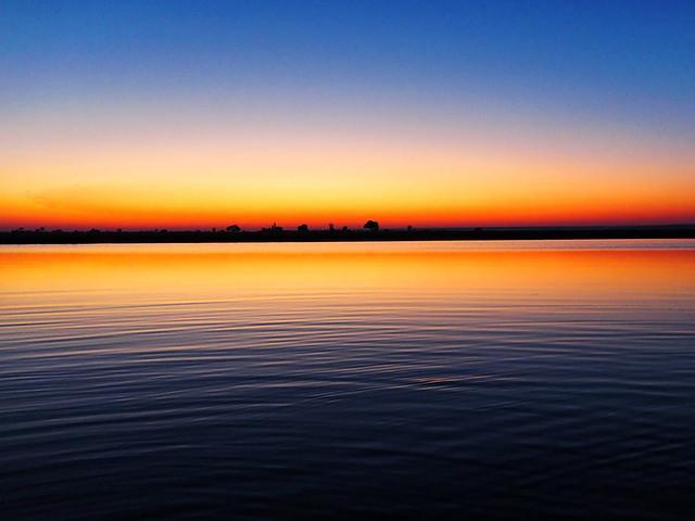 Sonnenuntergang am Linyanti River