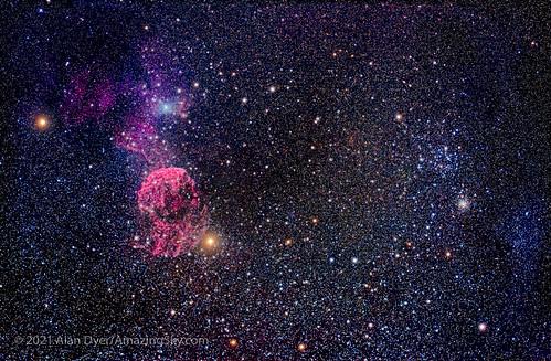 Messier 35 and the Jellyfish Nebula