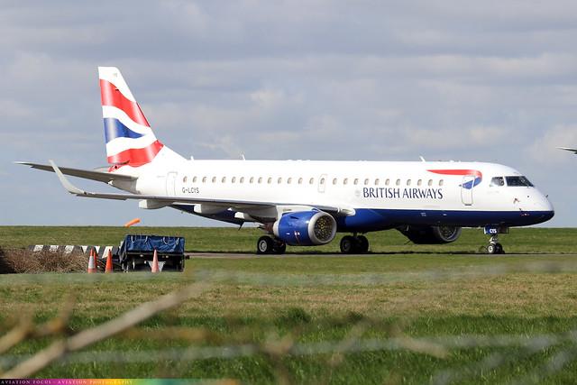 G-LCYS  -  Embraer ERJ-190SR  -  British Airways  -  NWI/EGSH 6/4/21.