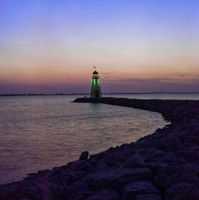 Lake Hefner at twilight