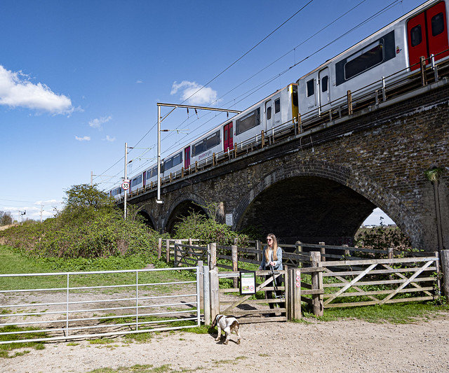 Greater Anglia Train Crosses Walthamstow Marshes
