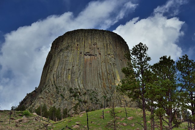 Clouds Floating by Devils Tower (Bear Lodge, Devils Tower National Monument)