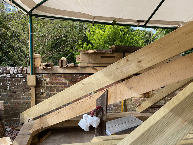 New softwood hip rafter alignment