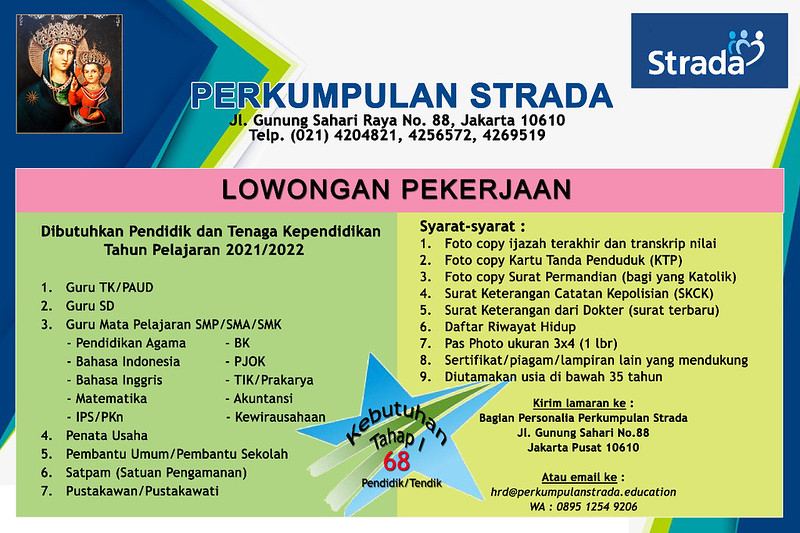 Informasi Lowongan Kerja TP 2021/2022