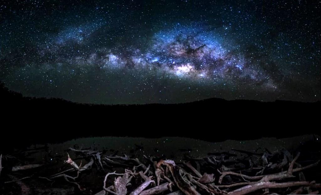 Vía Láctea, Isla Isabel, Nayarit, México.