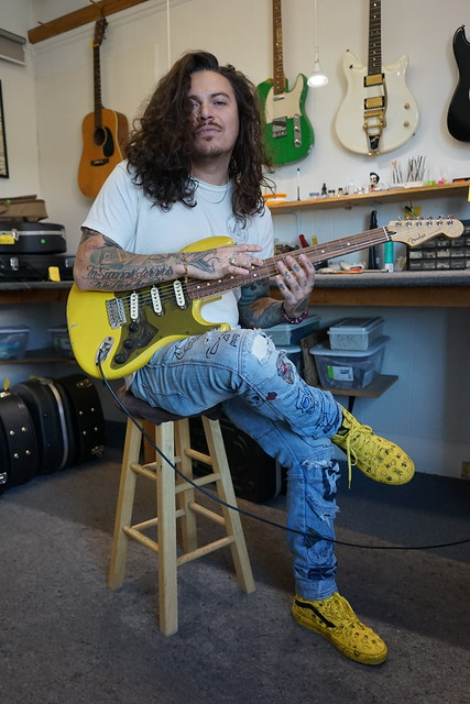 Here's another of my many new clients Adam Kobylarz. Adam recently brought in all the parts I would need to turn his Strat into a Baritone and it's a monster.   neelyguitars.com