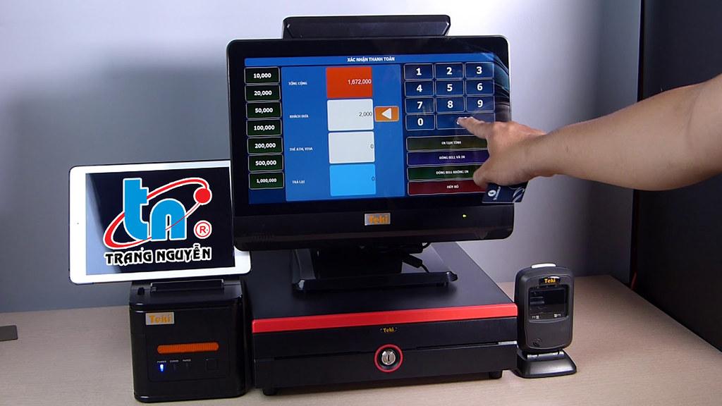 máy tính tiền cầm tay, quán cà phê, siêu thị, cảm ứng, in hóa đơn mini, bill, ocha, casio Cần Thơ 0915326788