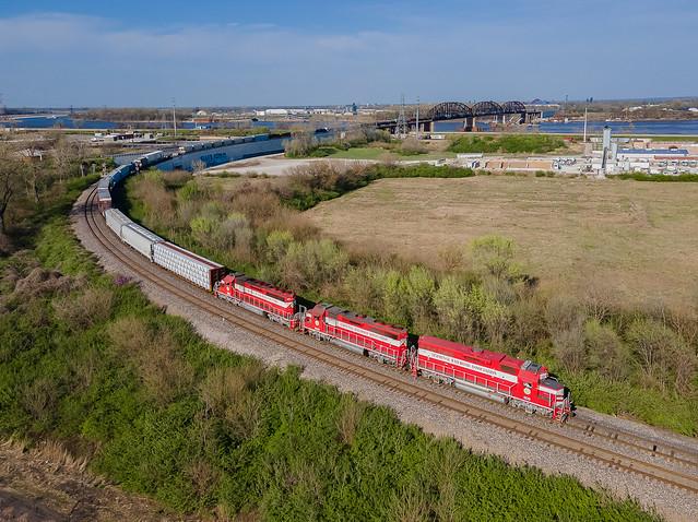 TRRA 309/3009 (Mother/Slug) Train:T201 Merchants Bridge St.Louis, Missouri