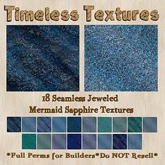 TT 18 Seamless Jeweled Mermaid Sapphire Timeless Textures