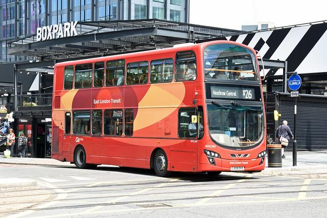 Blue Triangle WVL345 LX59DFE (East London Transit)