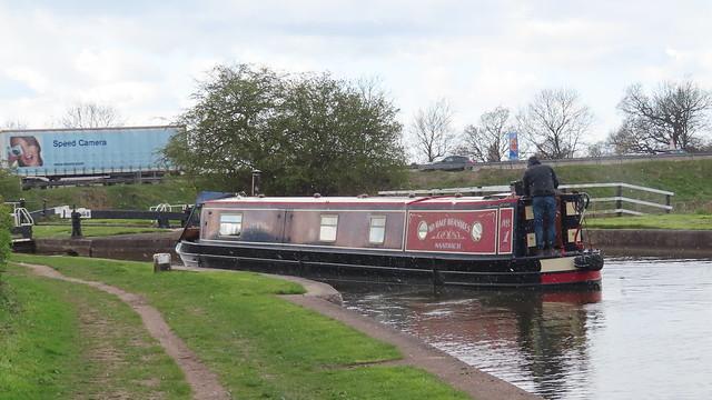Speeding Narrowboat.