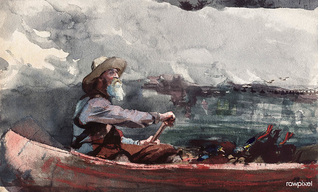 Adirondacks Guide (1892) by Winslow Homer. Original from The Smithsonian Institution. Digitally enhanced by rawpixel.