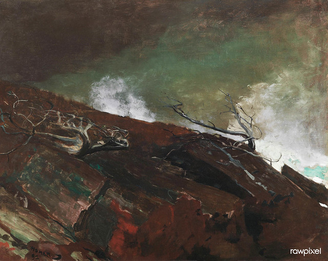 Coast of Maine (1893) by Winslow Homer. Original from The Smithsonian Institution. Digitally enhanced by rawpixel.