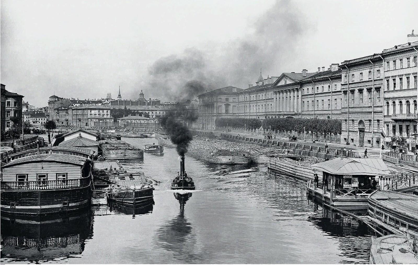 09. 1900-е. Река Фонтанка возле Аничкова моста