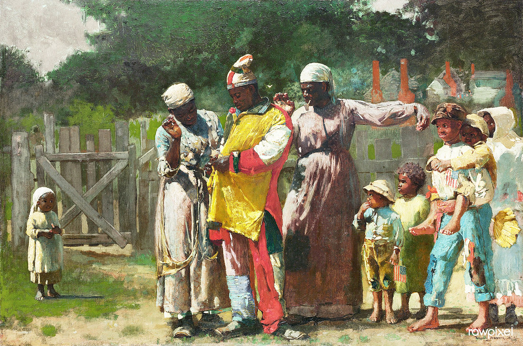 Dressing for the Carnival (1877) by Winslow Homer. Original from The MET museum. Digitally enhanced by rawpixel.