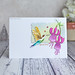 PB Good Luck hummingbird card