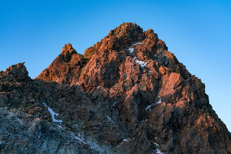 夕日の槍ヶ岳
