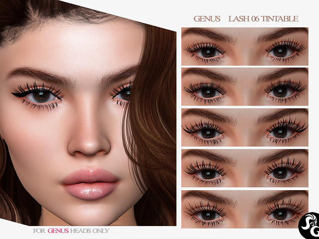 GENUS Lashes 06 - 5 Tintable Lashes @ UNIK EVENT