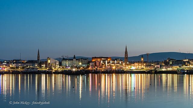 Dunlaoghaire at night - DSC_0734