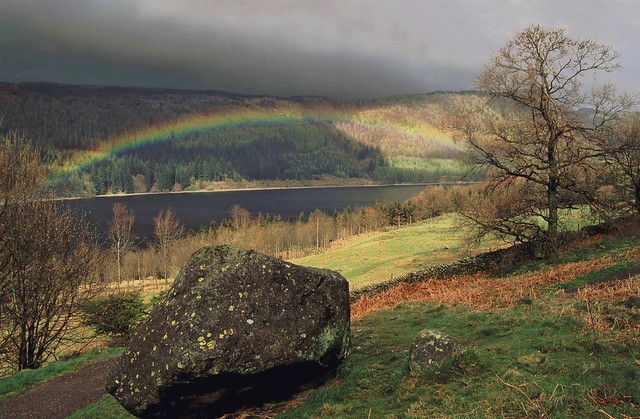Low rainbow over Thirlmere
