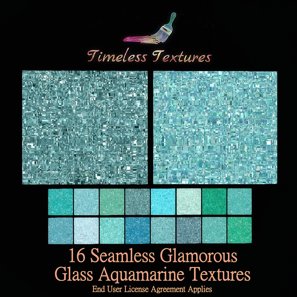 TT 16 Seamless Glamorous Glass Aquamarine Timeless Textures