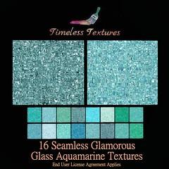 TT 16 Seamless Glamorous Glass Aquamarine Timeless Textures