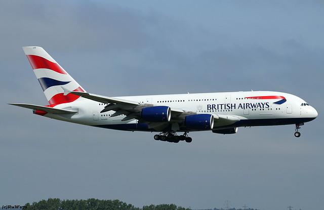 British Airways Airbus A380-841 G-XLEG