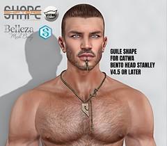 [SHAPEshifters] GUILE SHAPE V1+ V2  FOR CATWA HEAD STANLEY V4.5