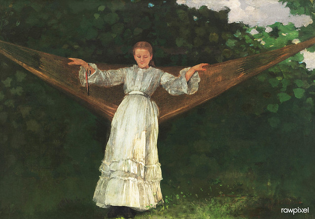 Summer Afternoon (1872) by Winslow Homer. Original from The Smithsonian. Digitally enhanced by rawpixel.