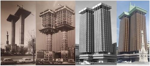 Torres Colón de edificio suspendido