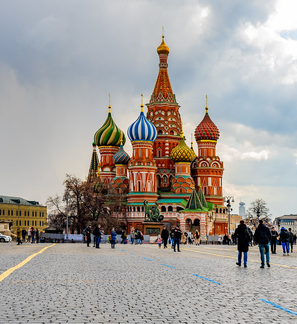 Intercession Cathedral on Red Square in Moscow.