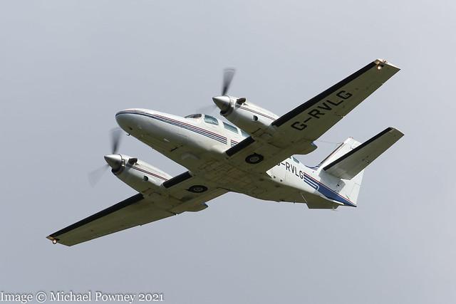 G-RVLG - 1987 Reims built Cessna F406 Caravan II, climbing on departure from Runway 27 at East Midlands