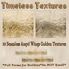 TT 10 Seamless Angel Wings Golden Timeless Textures