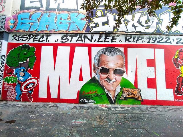 196 - Paris en Mars 2021 - rue Henri Noguères, en mémoire au créateur des personnages de Marvel